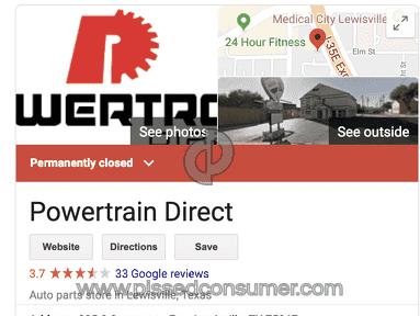 PowertrainDirect - POWERTRAIN DIRECT LLC -CLASS ACTION LAW SUITE!!! PLEASE READ THIS...