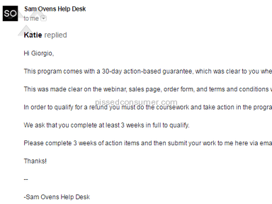 Ovens Enterprises Customer Care review 188656