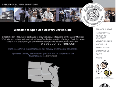 Spee Dee Delivery Service - Website looks like Yahoo GeoCities