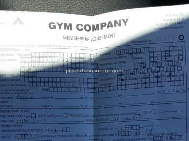 Gym Company Membership review 96665