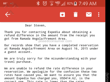 Expedia Hotel Booking Review from Rochelle, Illinois