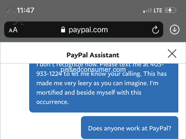 Paypal Customer Care review 830490