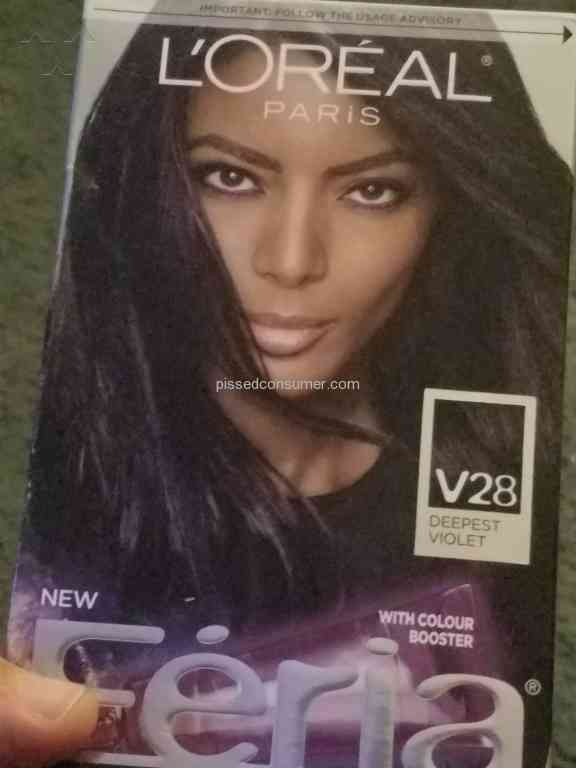 Loreal Usa Power Violet Hair Dye Review Mar 01 2017 Pissed Consumer