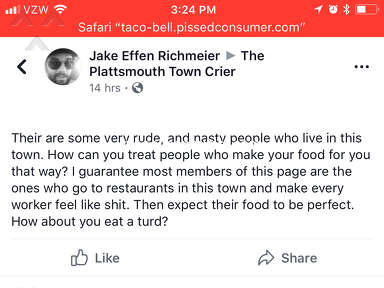 Taco Bell - Disabled Brother treated poorly