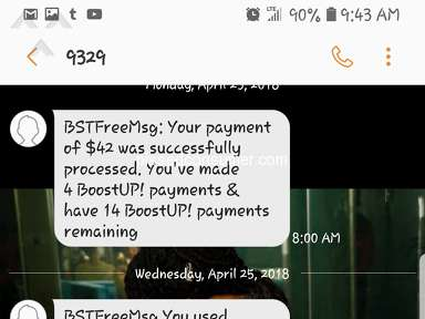 Boost Mobile - Third day after bill payment