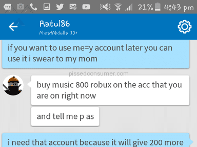 Roblox Account review 260560