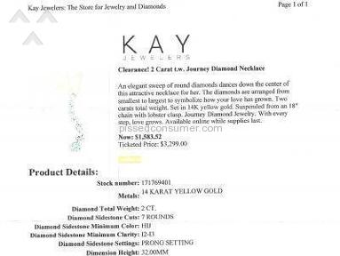 Kay jewelers will F you up!