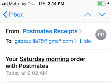 Postmates Food Delivery review 1032465