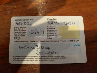 Wallace Bishop - Worst Customer Service I have experienced