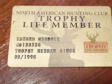 "North American Hunting Club - What happened to my ""life Membership"" benefits"