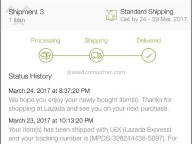 Lazada Malaysia -  I still haven't received my parcel yet!