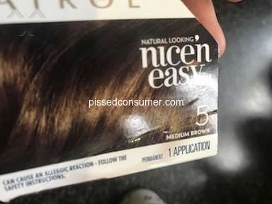 Clairol - Doesn't come off my skin- hair dye medium brown