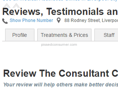 The Consultant Clinic Beauty Salons and Spas review 189486