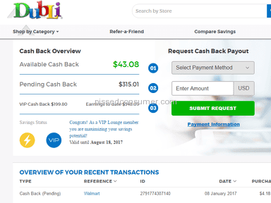 Dubli Cashback Rewards Program review 186096