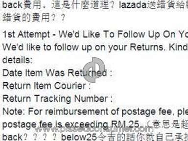Lazada Malaysia Customer Care review 104183