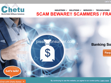 Chetu Software Scammers / FRAUD / THEY STOLE FROM ME $300K
