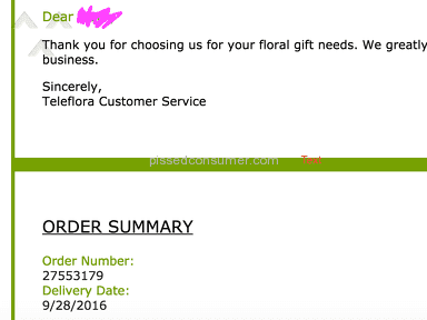Teleflora is a great service if you LOVE not getting what you ordered