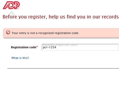ADP Registration Code