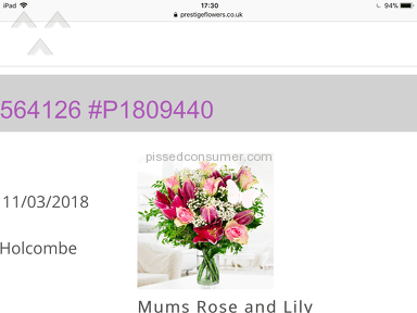 Prestige Flowers - AVOID THIS APPALLING COMPANY AT ALL COSTS!!