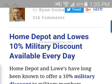 Home Depot - Veterans ID not accepted