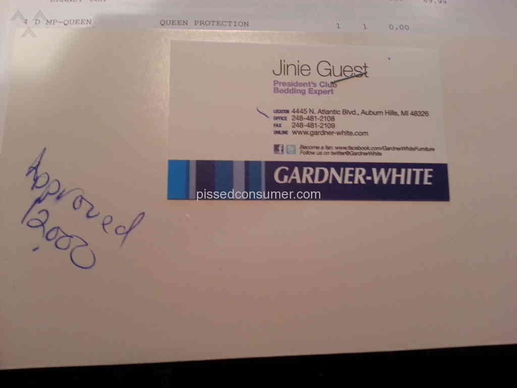 Gardner white furniture over approved credit line feb 11 for Gardner white credit