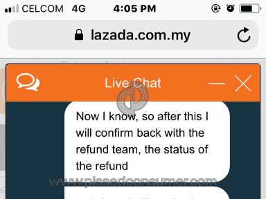 Lazada Malaysia - Refund ke akaun orang lain