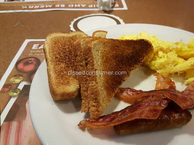 Dennys Restaurant Grand Slam Breakfast Review from Fletcher, North Carolina