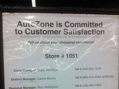 Autozone - Manager Review from Bellevue, Washington