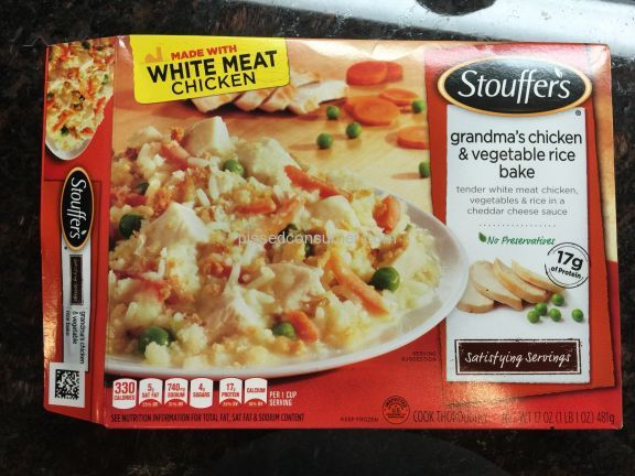 Stouffers Grandmas Chicken And Vegetable Rice Bake Frozen Meal
