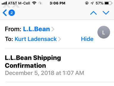 LL Bean - Will not honor coupon on purchase made