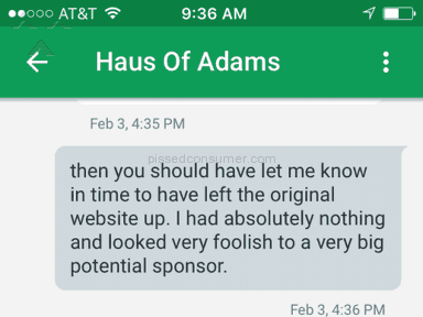 Haus Of Adams Web design review 115239
