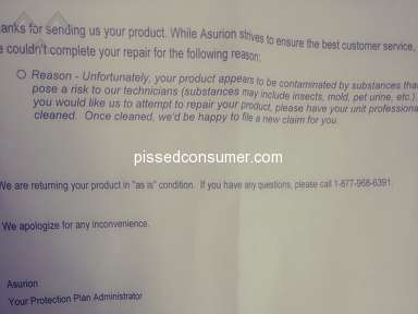 Walmart Asurion Protection Plan review 309776