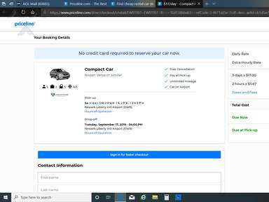 Priceline Car Rental Booking review 430422