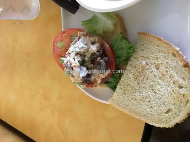 Panera Bread - Napa almond chicken salad sandwich - where's the chicken salad?