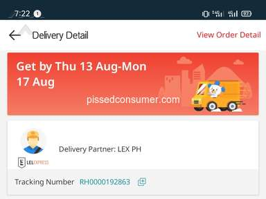 Lazada Philippines Shipping Service review 728127