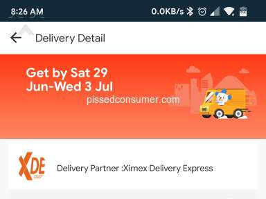 Lazada Philippines - Delayed Delivery (STILL NOT RECEIVED) w/ XDE