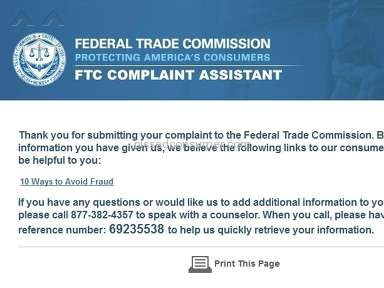 Sps Review Forum complaints to the Federal Trade Commission and FBI