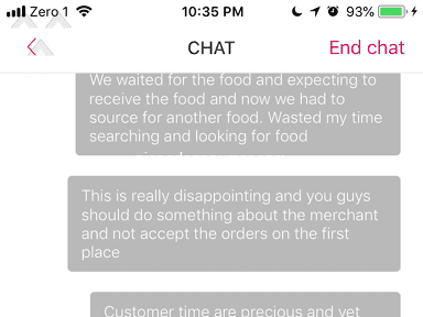 Foodpanda - Waited for 30mins and Sarpino cancelled the order