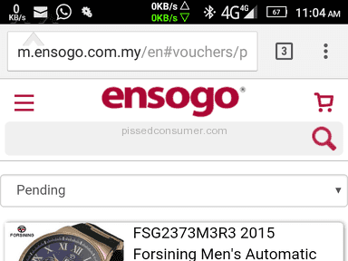 Deals Ensogo Malaysia Forsining Network Studio Watch review 134447