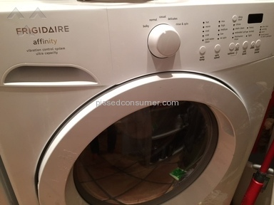 frigidaire affinity washing machine sucks