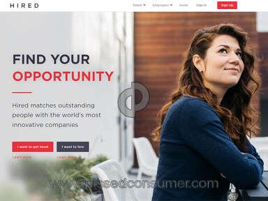 Hired.com - Arrogant, Dismissive! DO NOT waste your time.