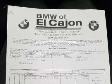 Bmw of North America - DONT PURCHASE FROM BMW EL CAJON DAMAGED PARTS
