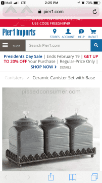 Pier 1 Imports Ceramic Canister
