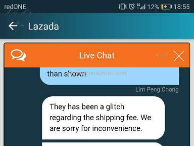 Lazada Malaysia Sucks Live Agent Handling Postage Issue Feb 22 2018 Pissed Consumer