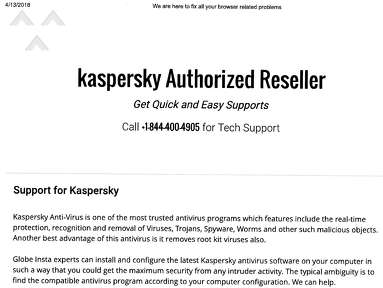 Kaspersky Lab - Now my bank just think im a unhappy customer with a bad experience with poor service.