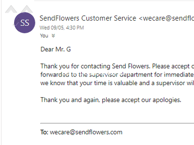 Sendflowers Flowers review 327398