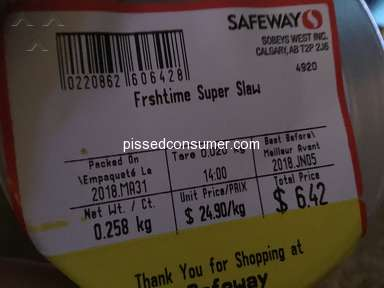 Safeway Canada - Rotten ...Frestime Super Slaw...