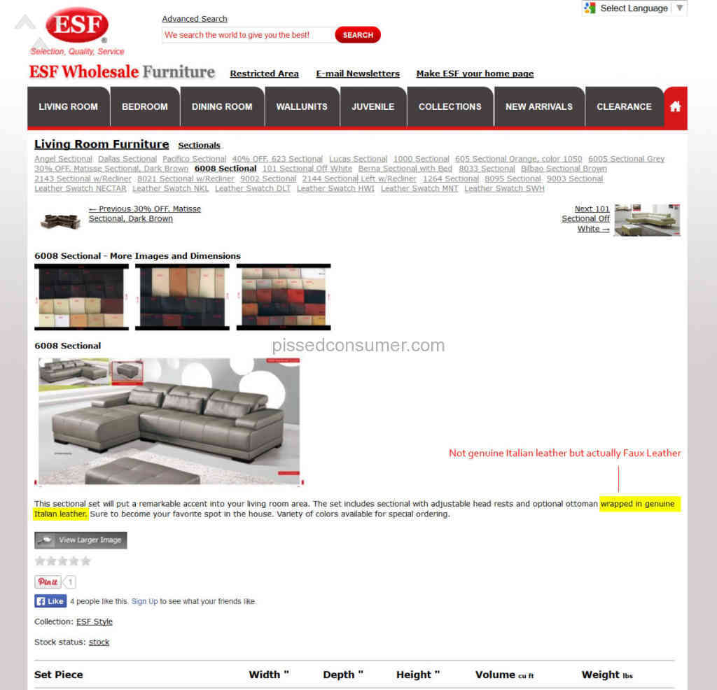 1 esf wholesale furniture review pissed consumer for I furniture reviews