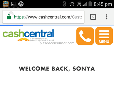 Cash Central - Review in Cash Services category