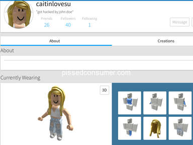 Roblox - My girlfriend cant get into her account